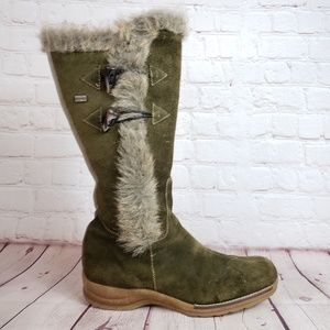 Rieker Tall Suede Leather Knee High Winter Boots